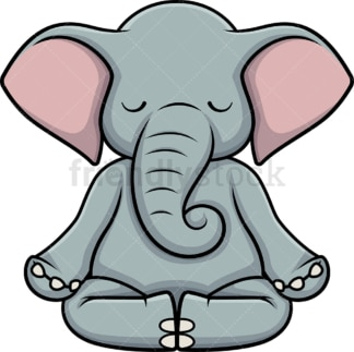 Elephant meditating. PNG - JPG and vector EPS (infinitely scalable).