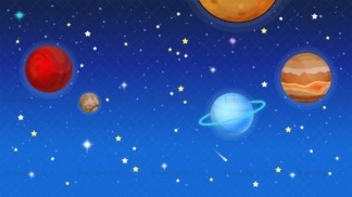 Outer space background in 16:9 aspect ratio. PNG - JPG and vector EPS file formats (infinitely scalable).