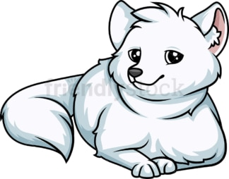 Polar fox lying down. PNG - JPG and vector EPS (infinitely scalable).