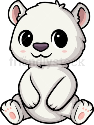 Chibi kawaii polar bear. PNG - JPG and vector EPS (infinitely scalable).