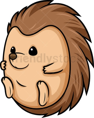 Chibi kawaii porcupine. PNG - JPG and vector EPS (infinitely scalable).