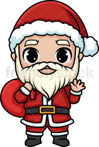 Chibi kawaii santa claus. PNG - JPG and vector EPS (infinitely scalable).