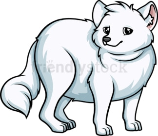 Chubby snow fox. PNG - JPG and vector EPS (infinitely scalable).