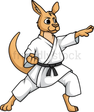 Kangaroo doing karate. PNG - JPG and vector EPS (infinitely scalable).