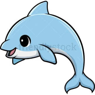 Kawaii dolphin. PNG - JPG and vector EPS (infinitely scalable).