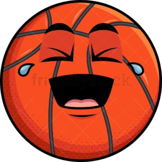 Laughing lol basketball emoticon. PNG - JPG and vector EPS file formats (infinitely scalable). Image isolated on transparent background.