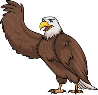 Bald eagle raising wing. PNG - JPG and vector EPS (infinitely scalable).