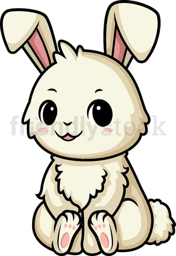 Chibi kawaii bunny. PNG - JPG and vector EPS (infinitely scalable).