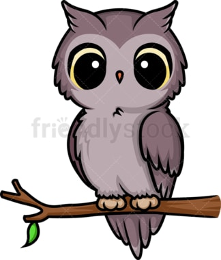 Chibi kawaii owl. PNG - JPG and vector EPS (infinitely scalable).