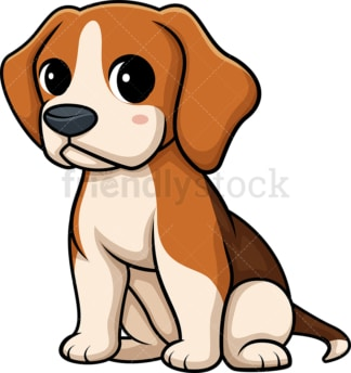 Kawaii beagle. PNG - JPG and vector EPS (infinitely scalable).