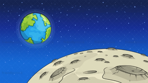 Moon surface background in 16:9 aspect ratio. PNG - JPG and vector EPS file formats (infinitely scalable).