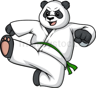Bear doing karate. PNG - JPG and vector EPS (infinitely scalable).