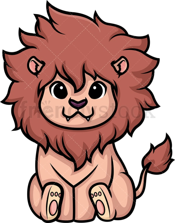 Chibi kawaii lion. PNG - JPG and vector EPS (infinitely scalable).