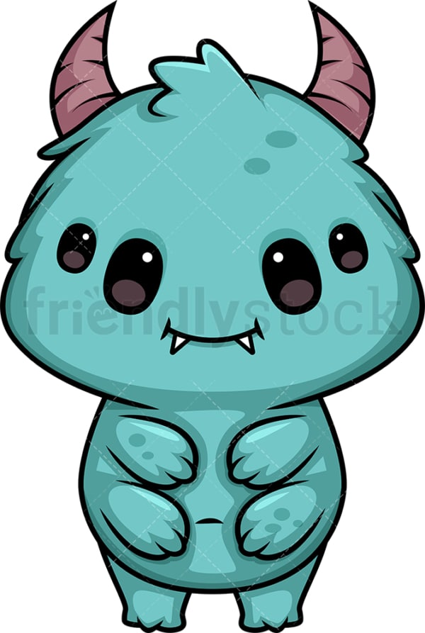 Chibi kawaii monster. PNG - JPG and vector EPS (infinitely scalable).