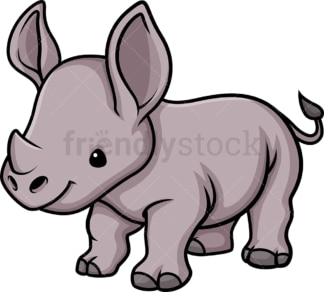 Chibi kawaii rhino. PNG - JPG and vector EPS (infinitely scalable).