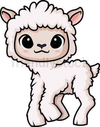 Chibi kawaii sheep. PNG - JPG and vector EPS (infinitely scalable).