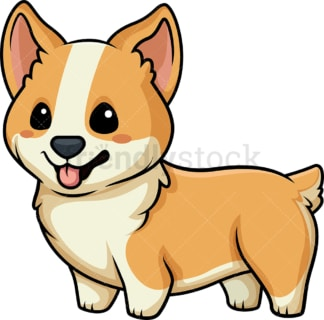 Kawaii corgi. PNG - JPG and vector EPS (infinitely scalable).