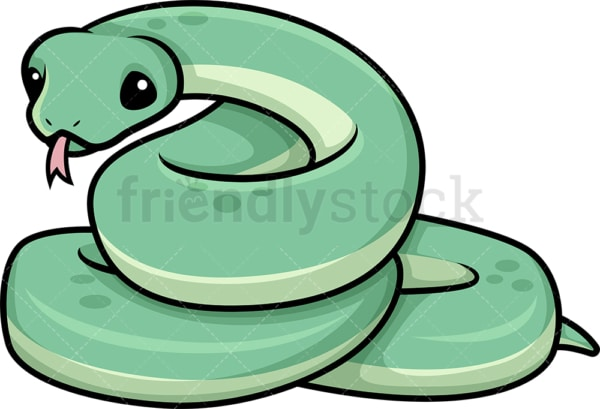 Kawaii snake. PNG - JPG and vector EPS (infinitely scalable).