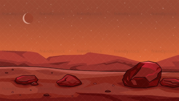 Surface of mars background in 16:9 aspect ratio. PNG - JPG and vector EPS file formats (infinitely scalable).
