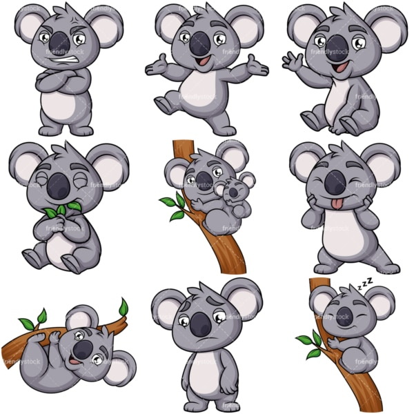 Koala bear mascot. PNG - JPG and vector EPS file formats (infinitely scalable). Image isolated on transparent background.