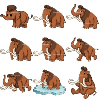 Mammoths vector. PNG - JPG and vector EPS file formats (infinitely scalable).