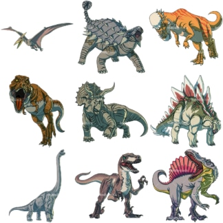 Realistic dinosaurs. PNG - JPG and vector EPS file formats (infinitely scalable).