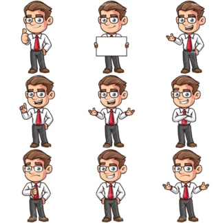 Young employee. PNG - JPG and vector EPS file formats (infinitely scalable).