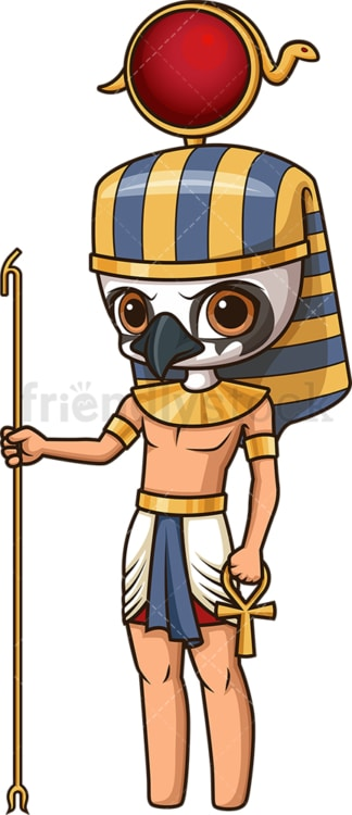 Ancient egyptian god ra. PNG - JPG and vector EPS file formats (infinitely scalable). Image isolated on transparent background.