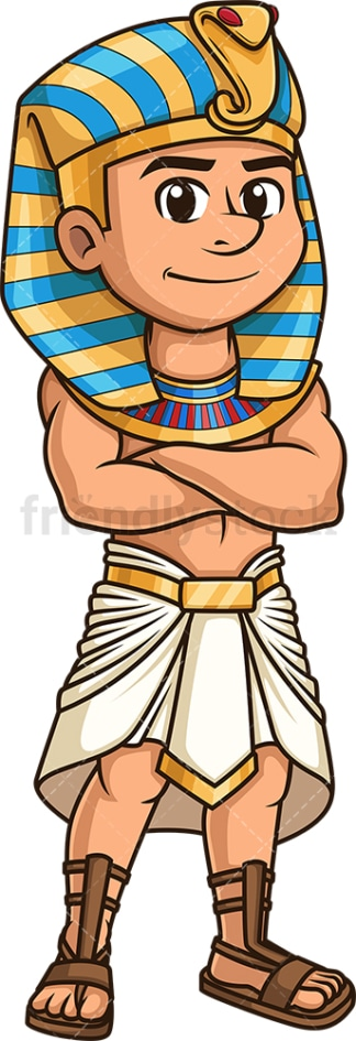 Ancient egyptian pharaoh. PNG - JPG and vector EPS file formats (infinitely scalable). Image isolated on transparent background.