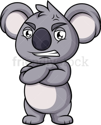 Angry koala bear. PNG - JPG and vector EPS (infinitely scalable). Image isolated on transparent background.