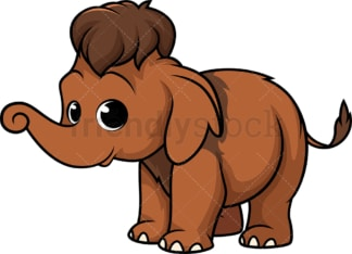 Baby mammoth. PNG - JPG and vector EPS (infinitely scalable).
