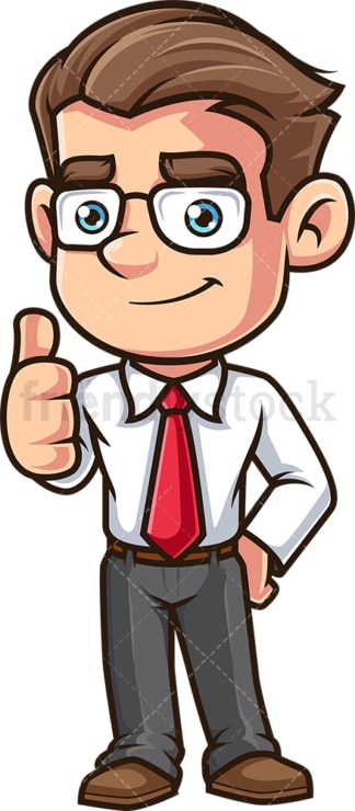 Employee thumbs up. PNG - JPG and vector EPS (infinitely scalable).