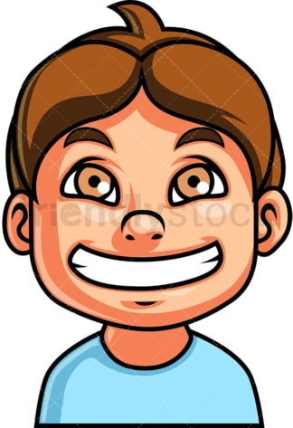 Little boy grinning face. PNG - JPG and vector EPS file formats (infinitely scalable). Image isolated on transparent background.