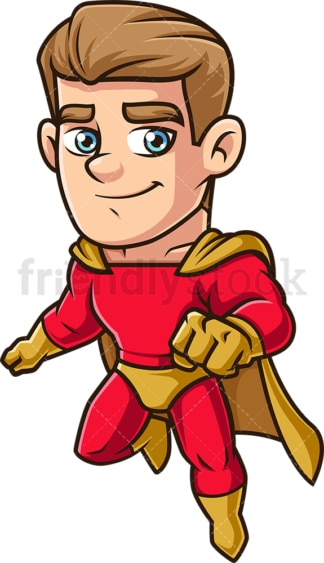 Male super hero flying. PNG - JPG and vector EPS (infinitely scalable).