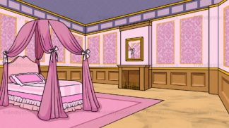 Princess room background in 16:9 aspect ratio. PNG - JPG and vector EPS file formats (infinitely scalable).