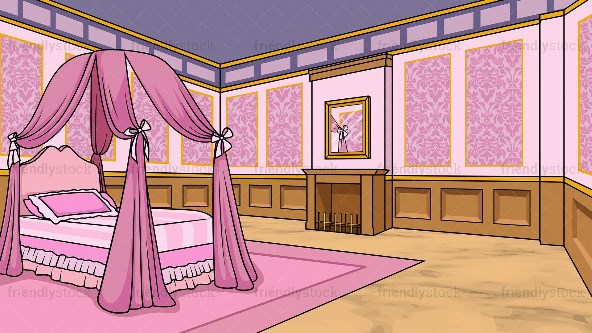 princess room background cartoon vector clipart