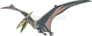 Realistic pteranodon. PNG - JPG and vector EPS (infinitely scalable).