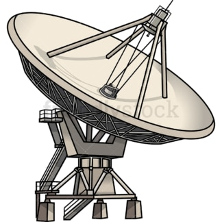 Satellite dish. PNG - JPG and vector EPS file formats (infinitely scalable). Image isolated on transparent background.