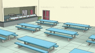 School cafeteria background in 16:9 aspect ratio. PNG - JPG and vector EPS file formats (infinitely scalable).