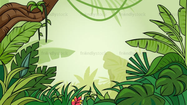 Tropical jungle background in 16:9 aspect ratio. PNG - JPG and vector EPS file formats (infinitely scalable).