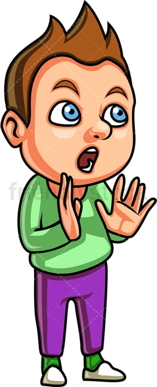 Kid speaking. PNG - JPG and vector EPS file formats (infinitely scalable). Image isolated on transparent background.