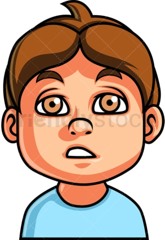 Little boy dazed face. PNG - JPG and vector EPS file formats (infinitely scalable). Image isolated on transparent background.
