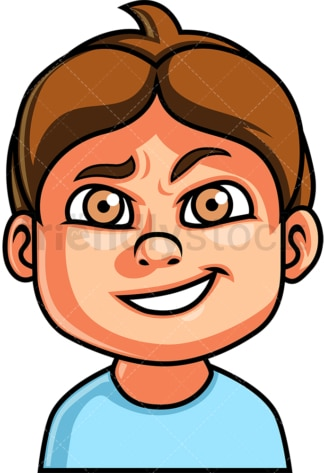 Little boy cunning face. PNG - JPG and vector EPS file formats (infinitely scalable). Image isolated on transparent background.