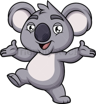 Happy koala bear. PNG - JPG and vector EPS (infinitely scalable). Image isolated on transparent background.