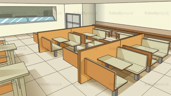 High school cafeteria background in 16:9 aspect ratio. PNG - JPG and vector EPS file formats (infinitely scalable).