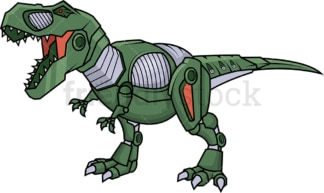 Robotic t-rex robot. PNG - JPG and vector EPS (infinitely scalable).