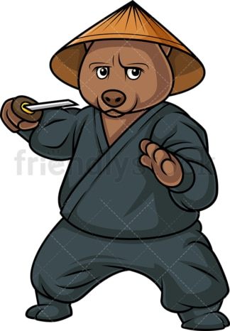 Ninja bear. PNG - JPG and vector EPS (infinitely scalable).
