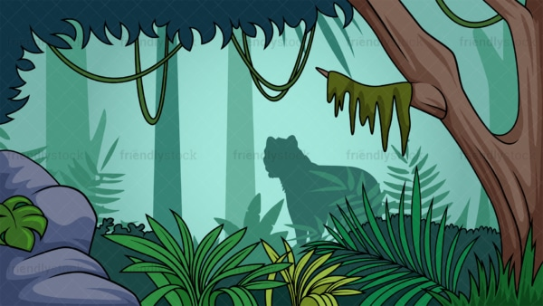 Rainforest jungle background in 16:9 aspect ratio. PNG - JPG and vector EPS file formats (infinitely scalable).