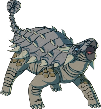 Realistic ankylosaurus. PNG - JPG and vector EPS (infinitely scalable).