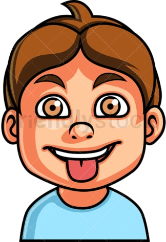 Little boy mocking face. PNG - JPG and vector EPS file formats (infinitely scalable). Image isolated on transparent background.